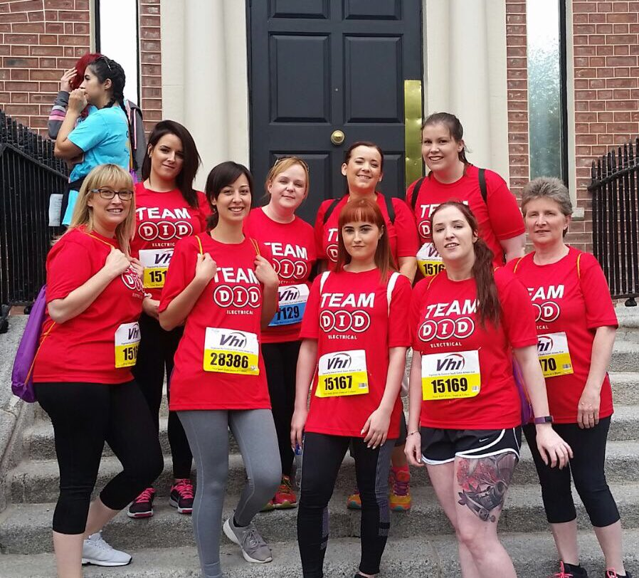 Best of luck to our own #TeamDID taking part in today's Women's Mini Marathon. Legends 💪 #VHIWMM https://t.co/ZG9N6DkhMc
