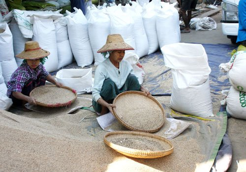 Mandalay to China rice exports dip