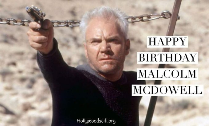 Happy birthday to Malcolm McDowell!