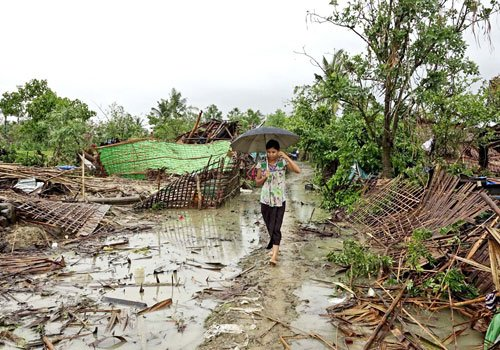 After deadly tornado, Rakhine State braces for more bad weather