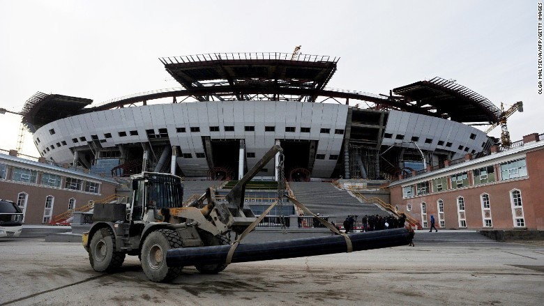 Russia accused of exploiting workers at 2018 World Cup venues