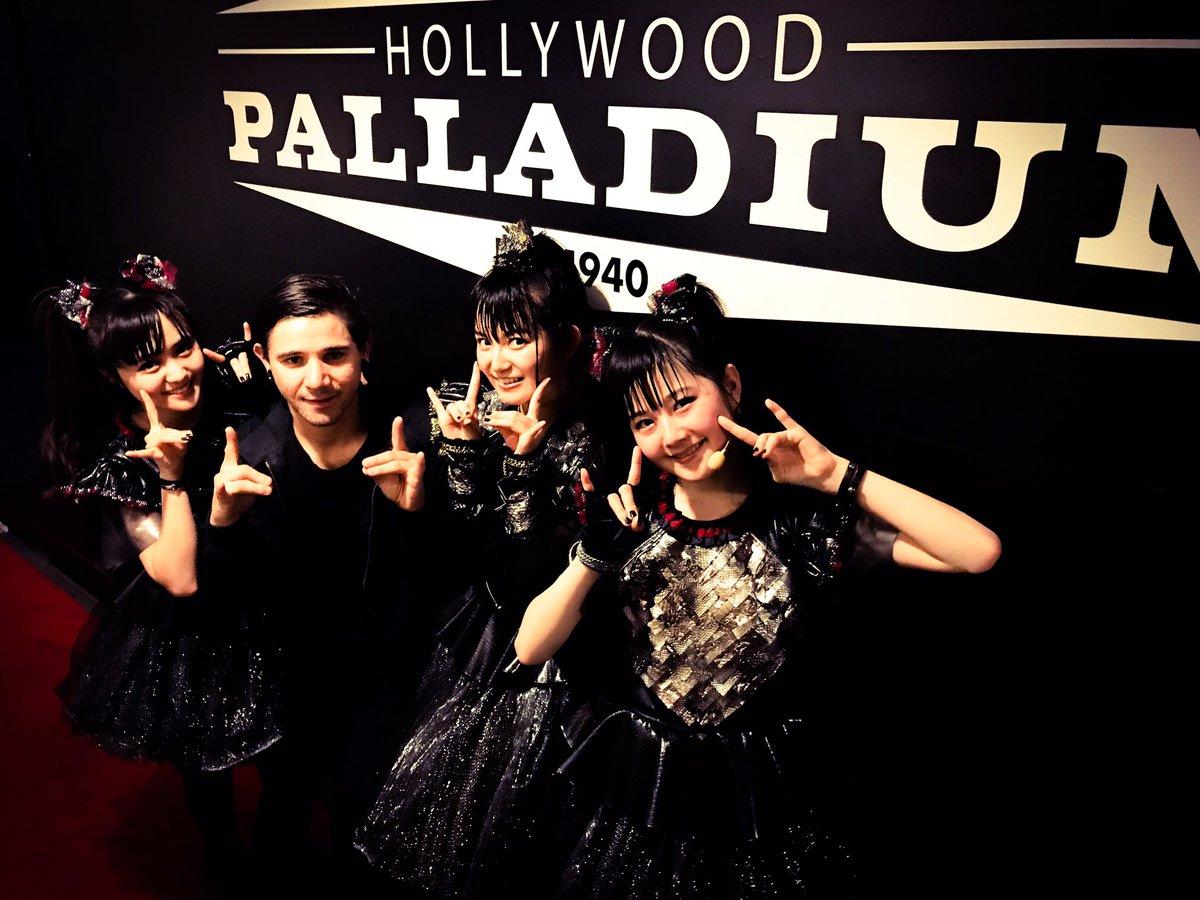 Thanks for coming @Skrillex #BABYMETAL 's show @thepalladium in LA! #Skrillex #Korn #stonesour ht...