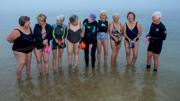 Even in winter, veteran Point Lonsdale swimmers hear siren call of the sea