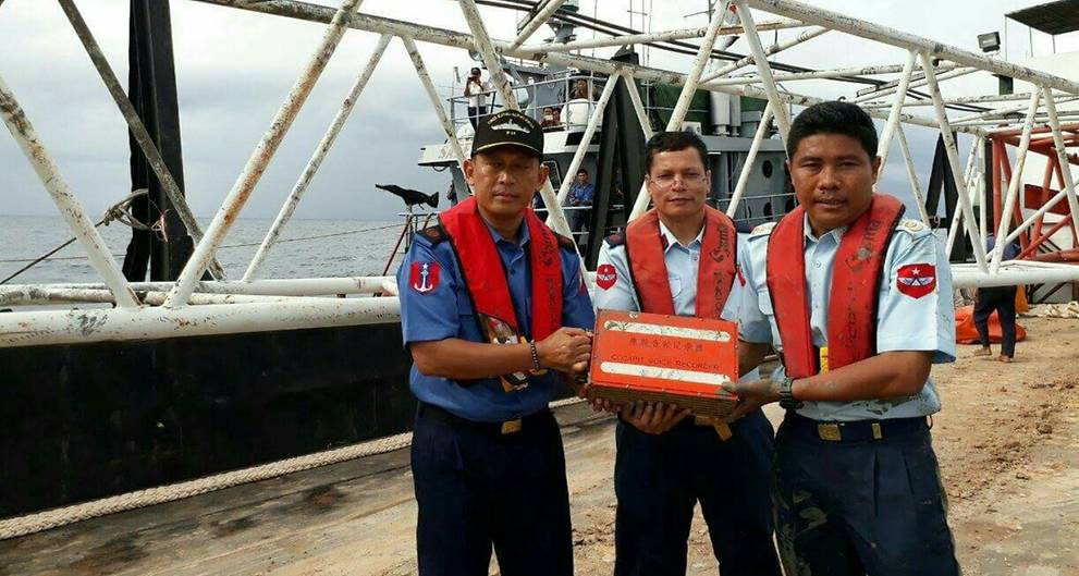 Myanmar ship recovers black box from crashed plane