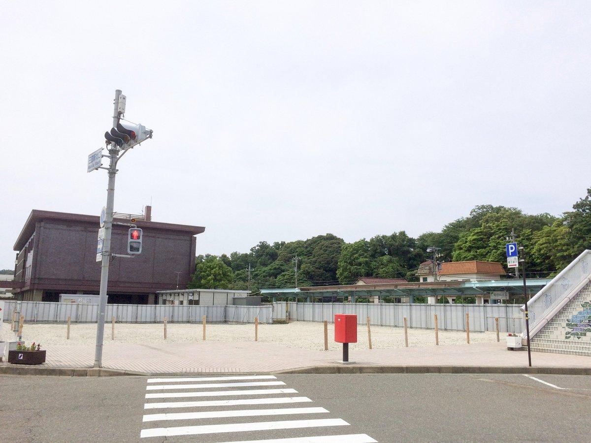 グラスリップ作中に出てきていたえちぜん鉄道三国駅の駅ビルは影も形もなくなってました。(現在プレハブの仮駅舎にて営業中)#