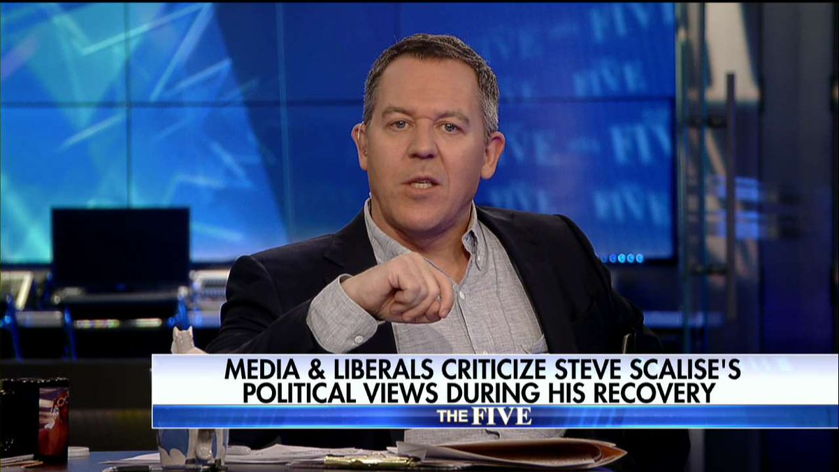 .@greggutfeld: The Left Attacks @SteveScalise's Politics During His Recovery