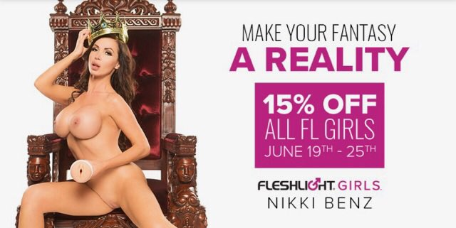 Make Your Fantasy A REALITY! 15% OFF all @Fleshlight Girls. Visit https://t.co/t3IIw9PKmH #DoNikki https://t