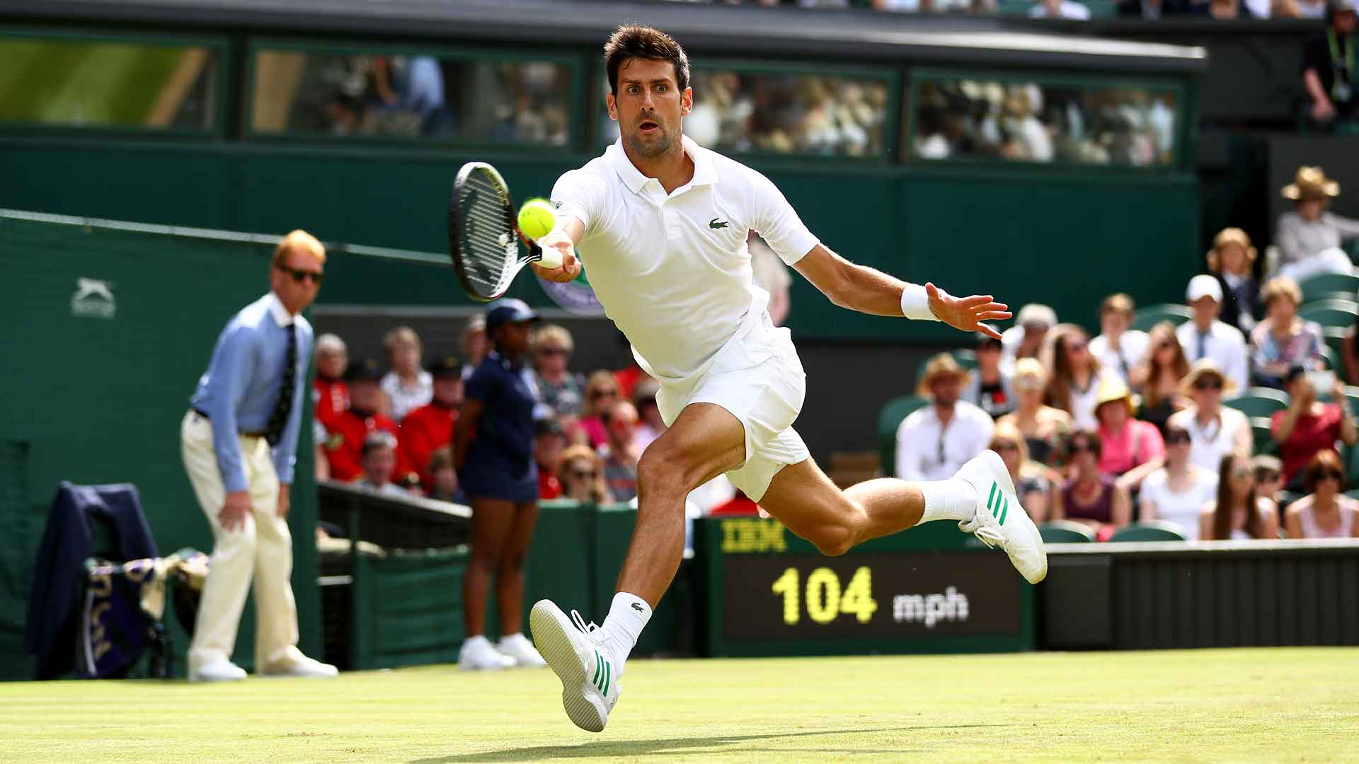 Fresh off his �� run in Eastbourne, @DjokerNole advances to #Wimbledon R2. More: https://t.co/EXwlmqN2rw https://t.co/JoOQhqhJ6V