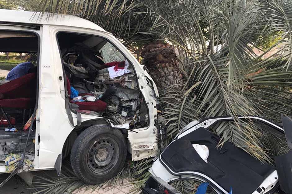 13 injured in Dubai minibus crash