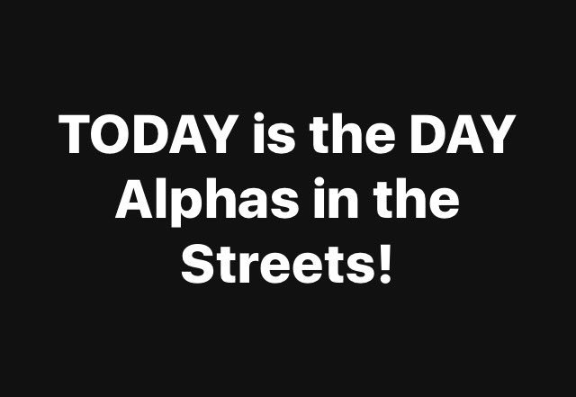 test Twitter Media - TODAY is the DAY! Alphas in the Streets! https://t.co/05hFyOCdJc