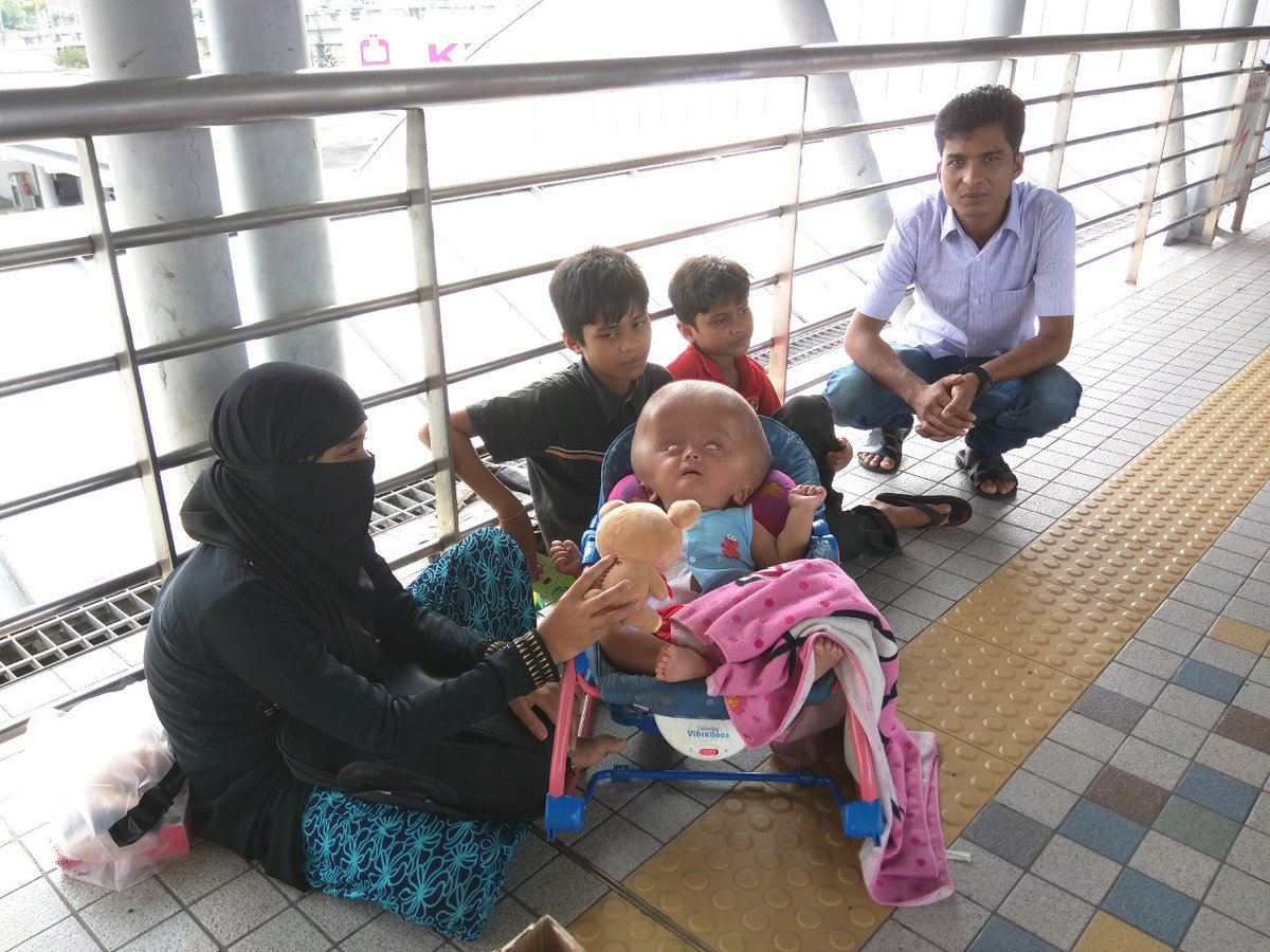 Rohingya family turns to begging in KL to save 10-month-old baby with rare condition