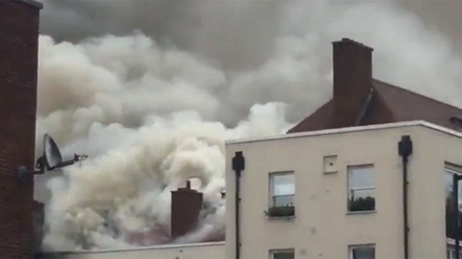 Fire in Bethnal Green residential block sends huge cloud of smoke billowing over East London as flames pour from windows
