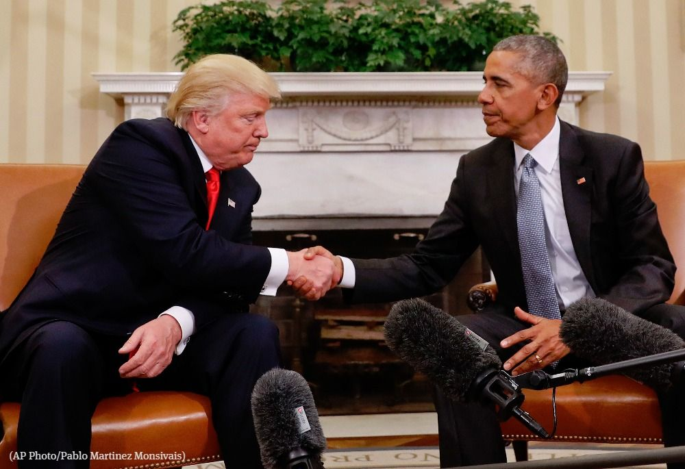 Trump again faults Obama for not acting during Russian election meddling