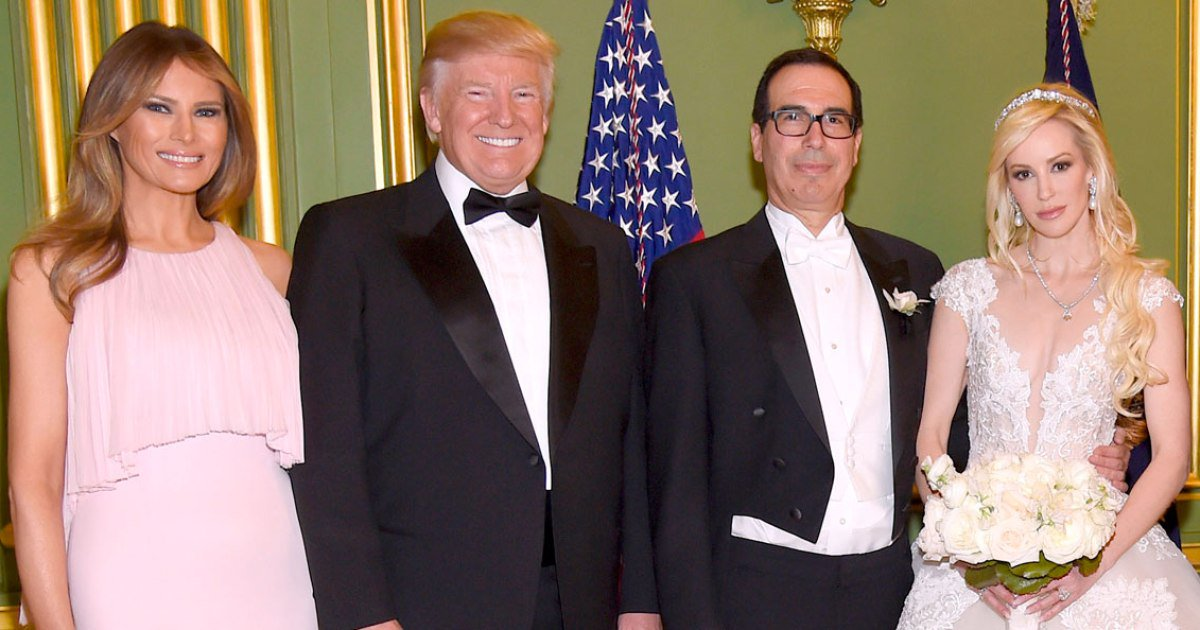 Donald and Melania Trump Attend Treasury Secretary Steven Mnuchin's Lavish Wedding