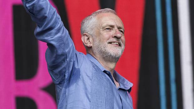 British opposition leader Corbyn puts politics centre stage at Glastonbury Festival