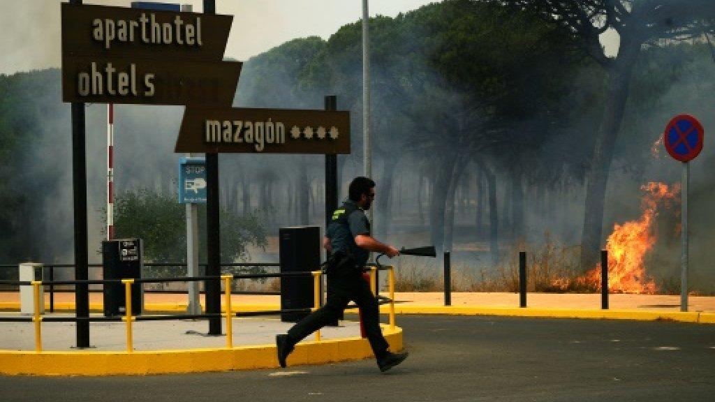 Spain sends reinforcements as fire spreads near wildlife reserve