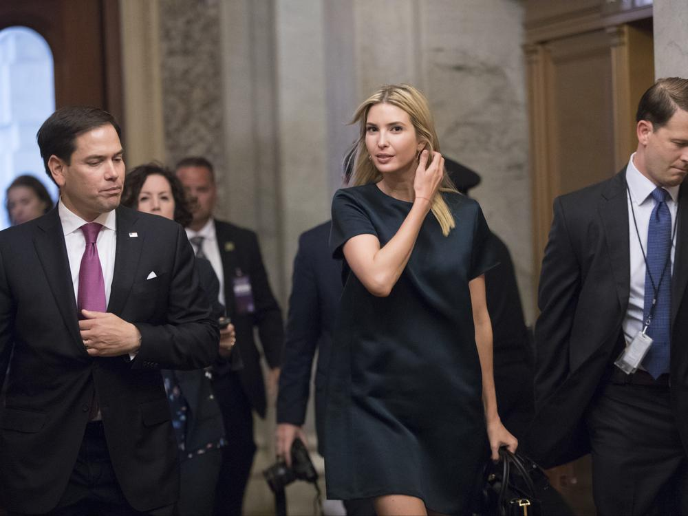 White House adviser Ivanka Trump says she tries to 'leave the politics to other people'