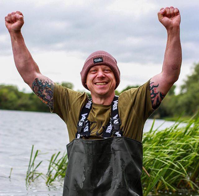 The face of a man who just got his PB. Love it! Pics over on our FB page  #carpfishing #vasswaders #