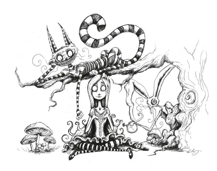 RT @hitRECord: Let's see your Alice in Wonderland inspired illustrations! https://t.co/UL84yTlfKj https://t.co/XuscW33Kii