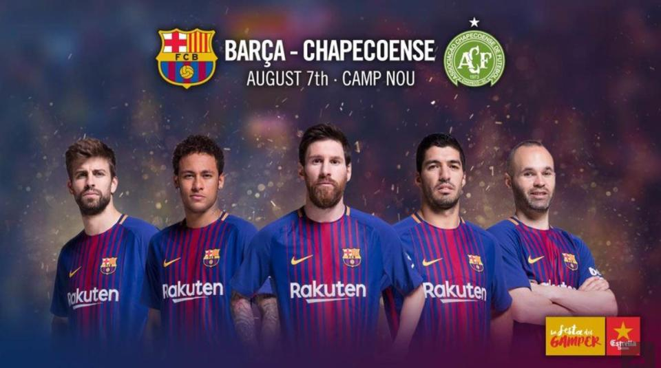 RT @TheSunFootball: Barcelona announce pre-season friendly against Chapecoense https://t.co/y1Lrm5kSko https://t.co/3bXXMjd5eN