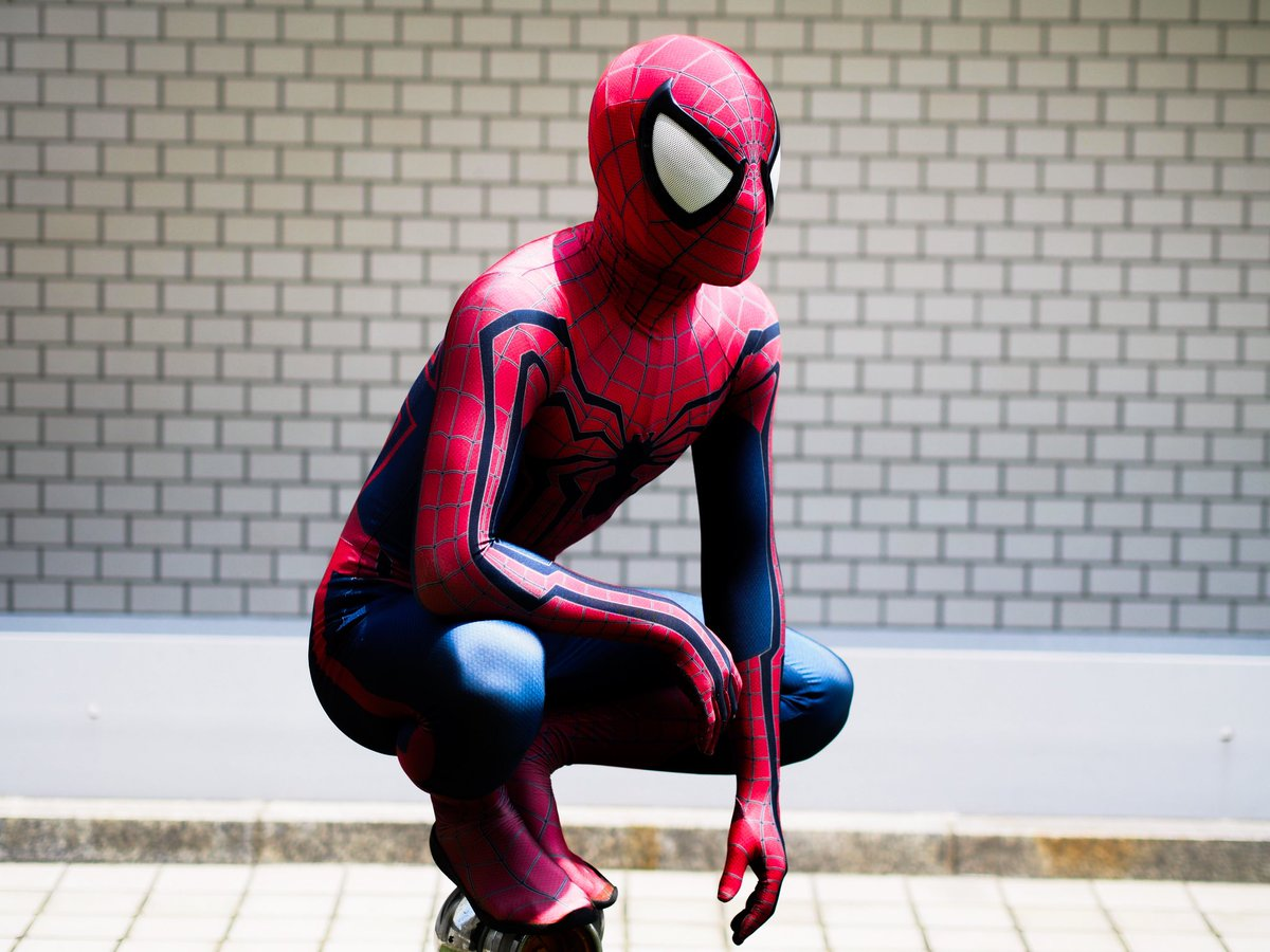 うどんの国のスパイダーマンめっちゃカッコいいぜ🕷インスタも更新されてて、毎日スパイダーマンが拝めますよ^^#コミエス #