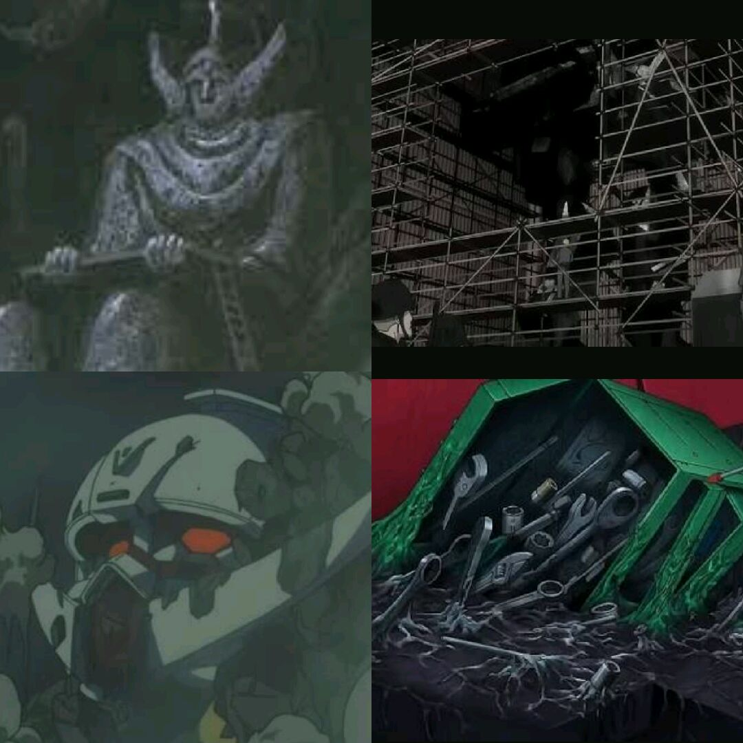 「∀ガンダム」と「クロムクロ」の共通点⚫主役機の名前が色に由来(ホワイトドール、クロムクロ)⚫主役機が発掘物⚫主役機がナ
