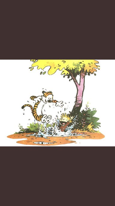 "Happy birthday to the biggest influence of my life, Bill Watterson. He taught me ""it\s a magical world out there\"""