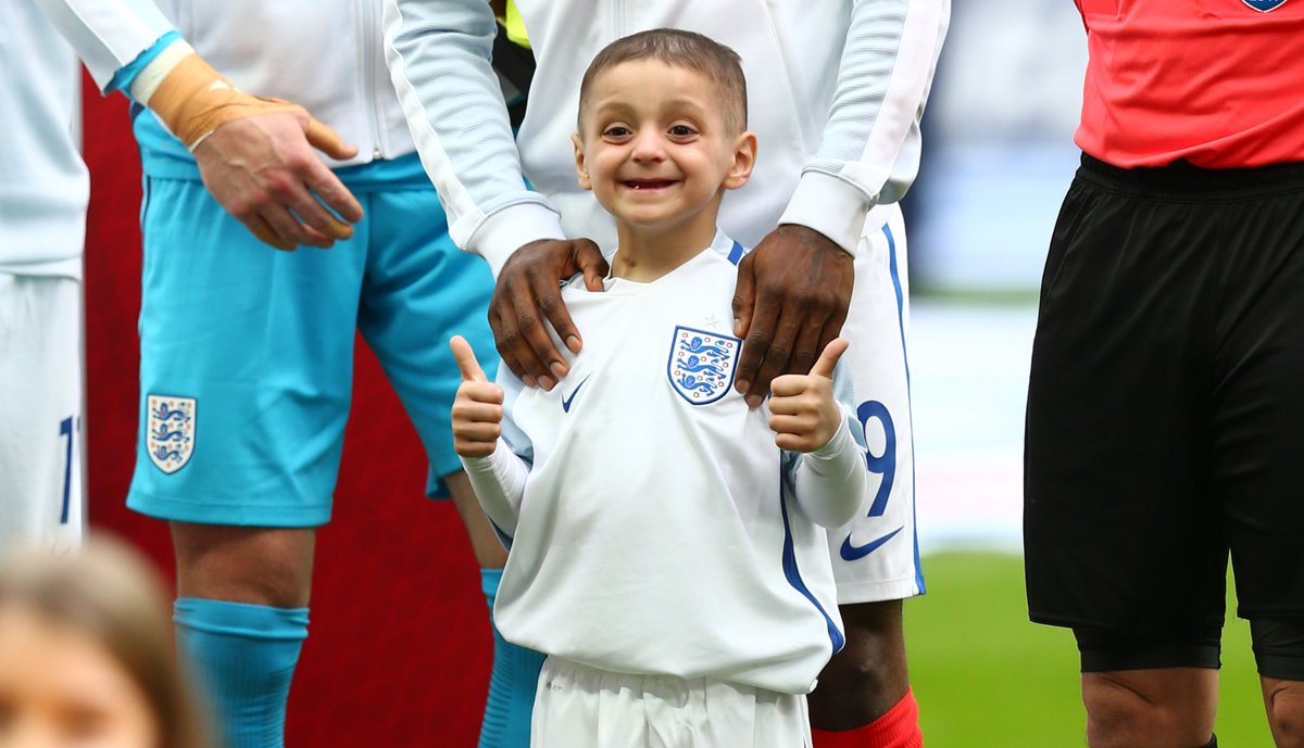 RT @England: There's only one Bradley Lowery. https://t.co/dzW6mB9lAN