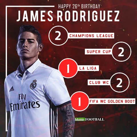 Happy 26th birthday James Rodriguez!