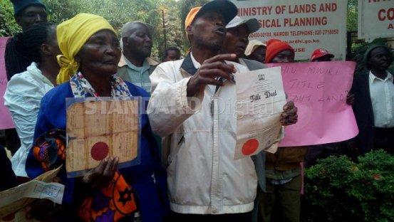 Jubilee government gave us fake title deeds, claim Kihiu Mwiri land owners