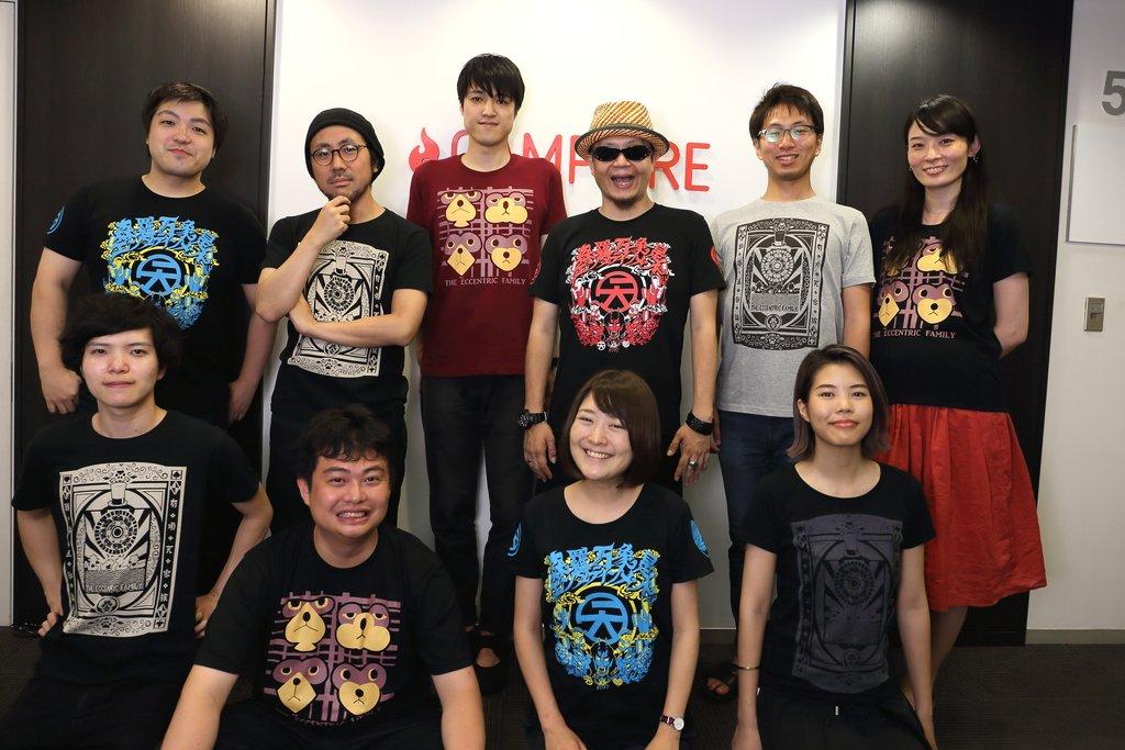 有頂天家族2のTシャツを作ってみた。モデルにCAMPFIREの面々に協力してもらった!女性用ボディーと男性用ボディーで選