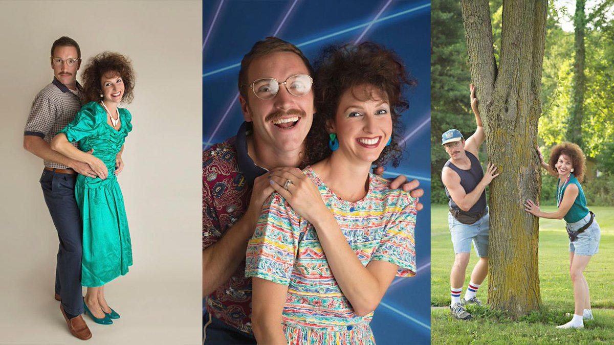 Couple celebrates their 10-year anniversary with a rad '80s-themed photo shoot