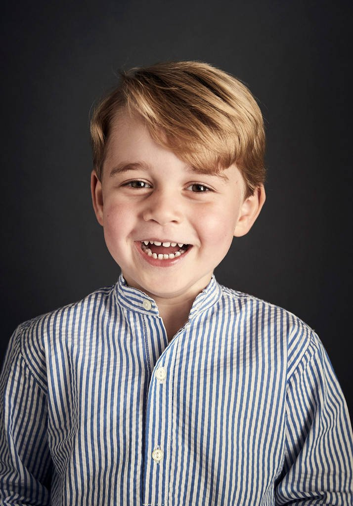 ? Prince George's fourth birthday portrait is here and it will melt your heart.