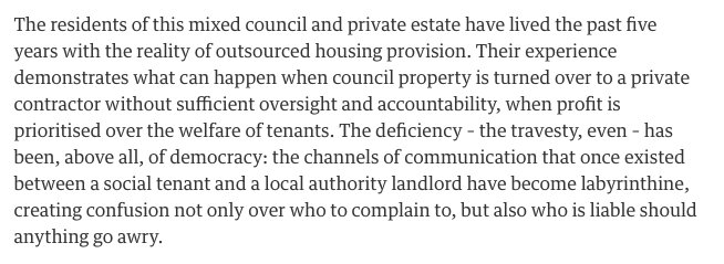 """"""" Social housing is a game in which the tenants aren't players but pawns"""" @Zoesqwilliams  https://t.co/VufY8XKQ2v https://t.co/Dpzuxon4HQ"""