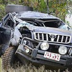 Two perish in accident involving trailer and personal vehicle