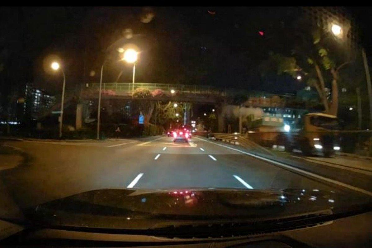 Video shows moment of impact as excavator arm hits Balestier Road overhead bridge