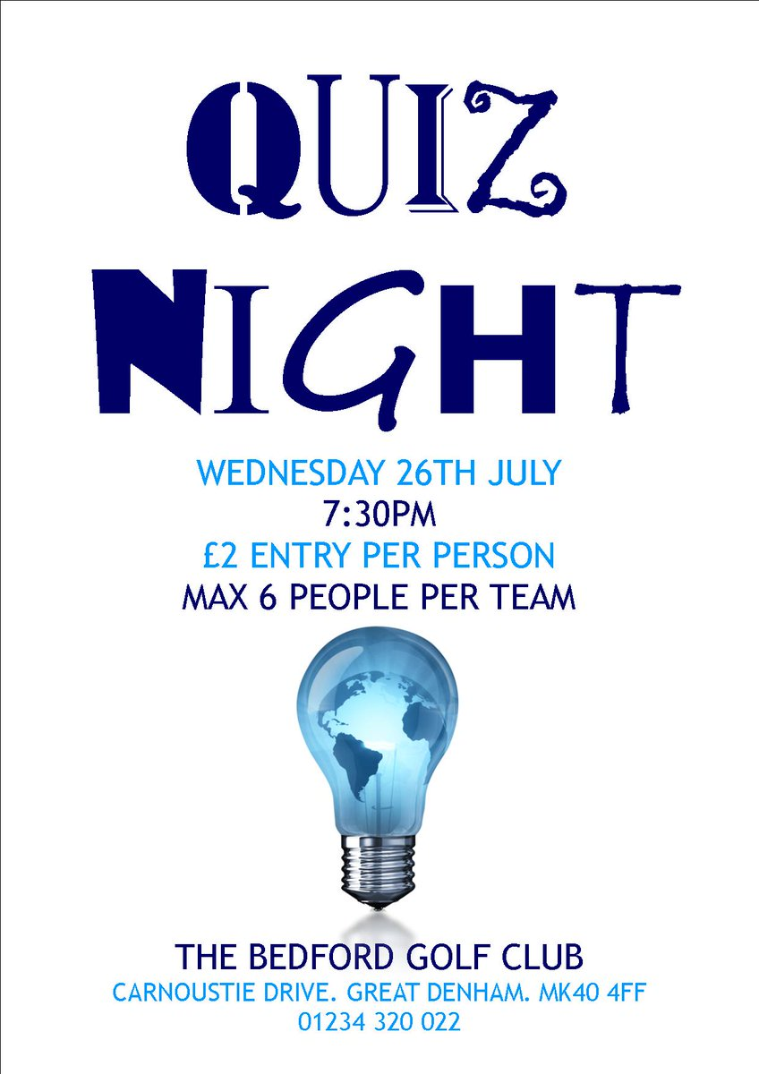 test Twitter Media - It's #QuizNight tonight @thebedfordgc. Join us for an evening of fun! Non members are as always very welcome! https://t.co/EX6SBW4sh7