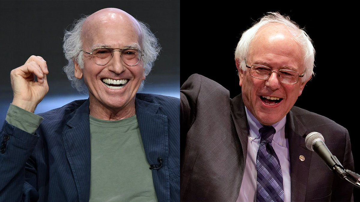 Larry David discovers he's actually related to Bernie Sanders