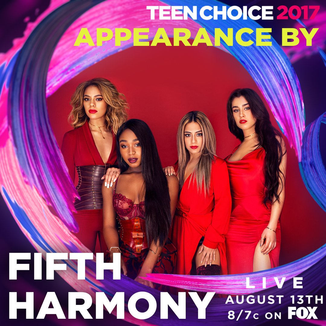 The #TeenChoice Awards just got a dose of girl power from @FifthHarmony. �� Who else can't wait to see them?! https://t.co/J4jSYG0RWd