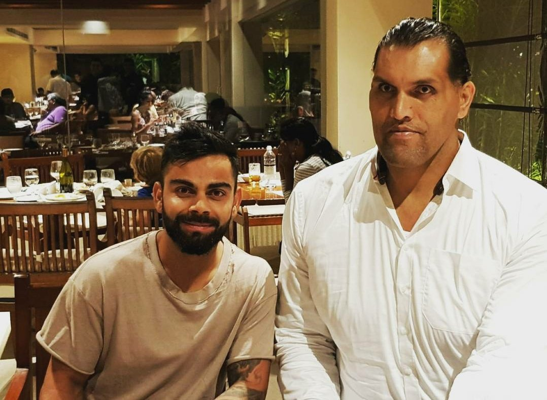 It was Great to meet The Great Khali, what a guy! 💪🤼