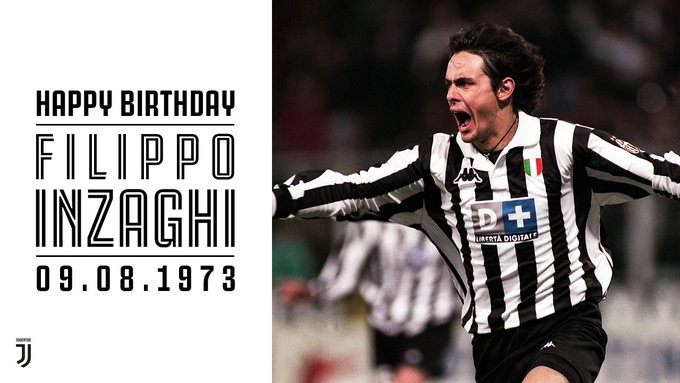 Happy 44th Birthday to former Juventus striker Filippo Inzaghi