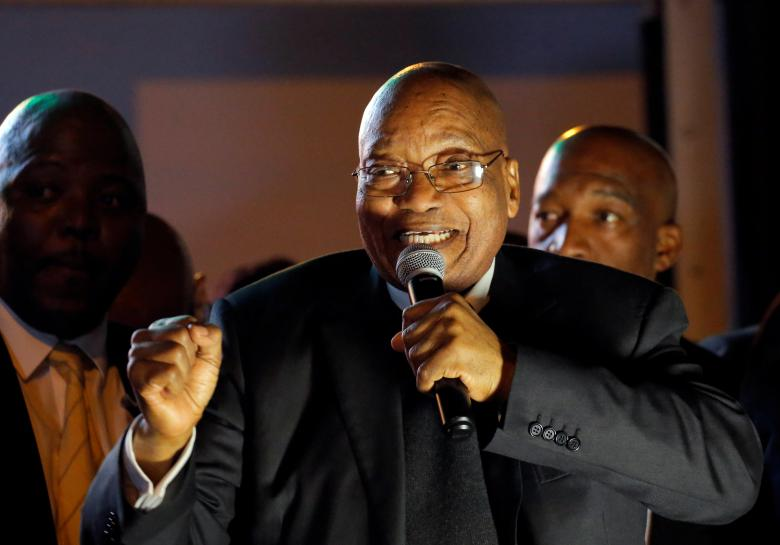 South Africa's Zuma survives no-confidence vote, some ANC lawmakers join opposition