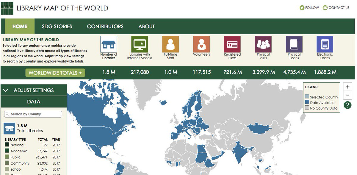 "test Twitter Media - New Reference / #Data Resource: IFLA Releases ""Library Map of the World"" https://t.co/R2bzib1PMY #libraries https://t.co/TmSCROSWVY"