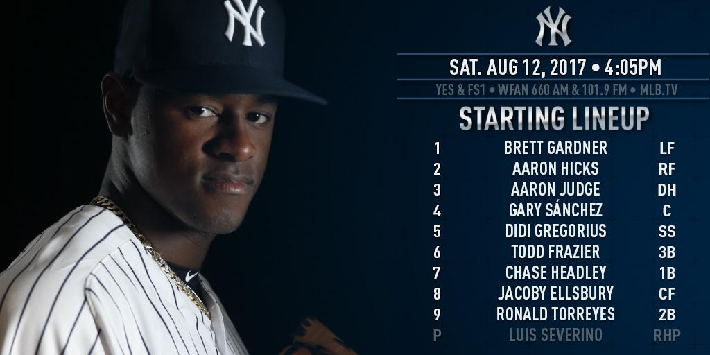 Sevy gets the start today. In his last 4 starts, he's 4-0 with a 0.70 ERA. https://t.co/1bcdEVLtbS https://t.co/gEUjMXpkIk
