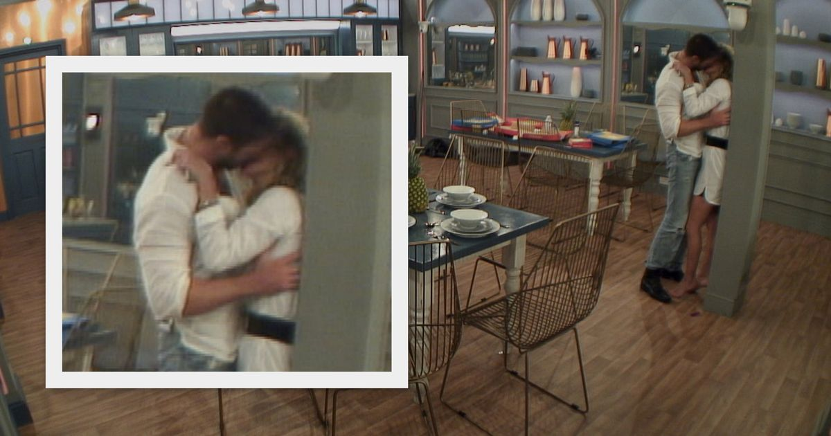 Sarah Harding shares VERY steamy kiss with Chad Johnson on Celebrity Big Brother