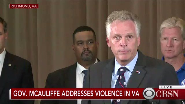 WATCH LIVE: Virginia governor holds press conference amid violence in Charlottesville https://t.co/0MGCIhM13t https://t.co/IHUio9h6xM