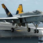 US F-18 fighter jet crash lands at Bahrain International Airport, pilot ejectssafely