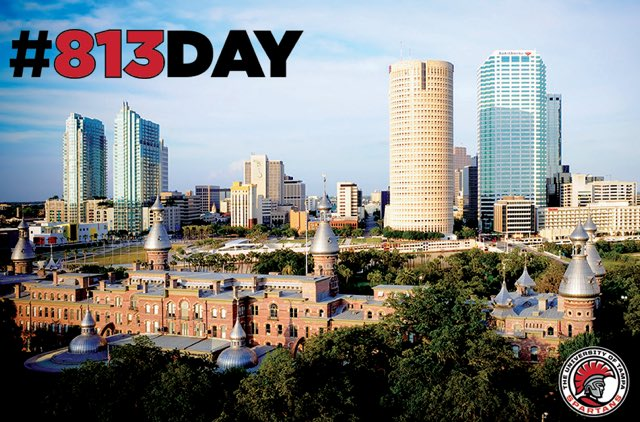 RT @UofTampa: Proud to be a part of the Hillsborough County community! #813Day #UTampa #community https://t.co/d5VaItixeE