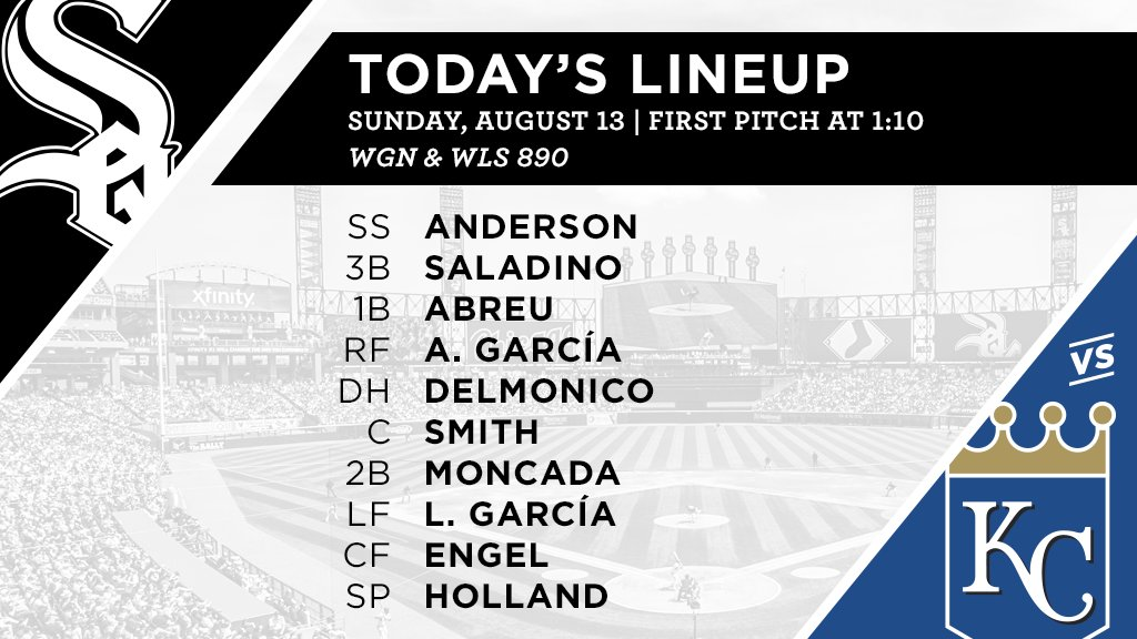 Today's #SoxGameDay starters: https://t.co/j64JIB2Ola