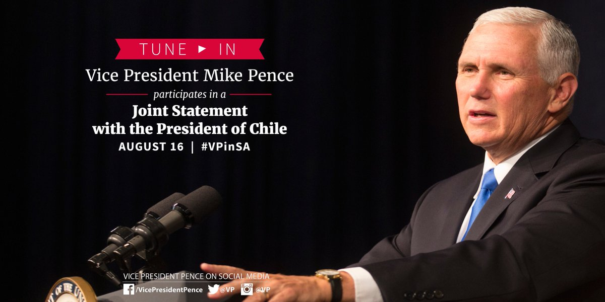 RT @VP: TUNE IN! The President of Chile, @mbachelet, and I are speaking now: https://t.co/WjVQSzAZjQ #VPinSA https://t.co/sMyA7o4yyY